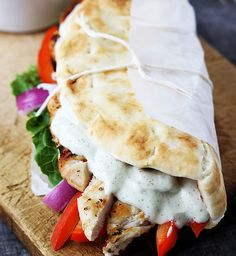 Chicken Gyro WITH Tzatziki AND the Seasonings!  Everything you need to make this refreshing sandwich!! :)