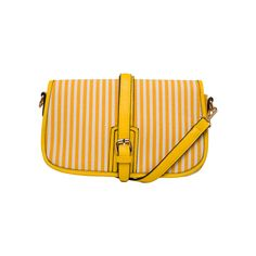 MMS Design Studio Buckle Striped Crossbody Yellow up to 70% off | Handbags | Little Black Bag