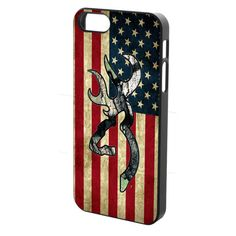 Camo Browning American Flag Custom Cases For iPhone 5 by BestTebay