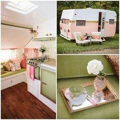 Vintage camper! Oh my just so lovely!