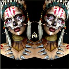 voodoo face paint - Google Search