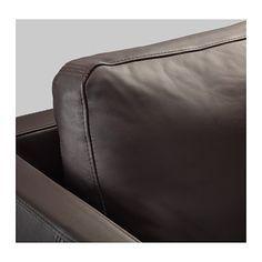 STOCKHOLM Divano a 3 posti - Seglora marrone scuro - IKEA Stockholm, Interiors, Studio, Dark Brown, 3 Seater Sofa, Natural Colors, Leather, Interior, Decorating