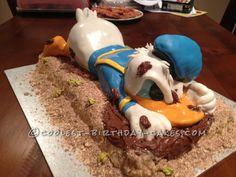 Coolest 3D Donald Duck Cake...