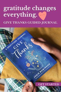 The ✶Give Thanks Journal✶ shows you how to get the best results from a gratitude practice and to become your most whole, joyful self each day. #gratitude #journalideas #selfcare #gifts