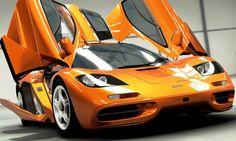 Sports Car in orange color.