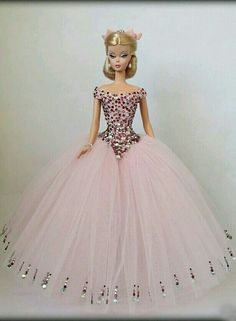 Pink Net Gown for Silkstone BArbie Doll