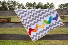 Scrap Rainbow Baby Quilt Tutorial