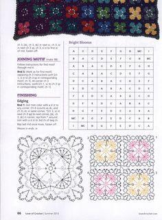 Bright blooms crochet granny square variation pattern, 3 of Crochet Mat, Manta Crochet, Crochet Flower Patterns, Crochet Squares, Crochet Granny, Crochet Flowers, Crochet Bedspread, Crochet Cushions, Crochet Motif
