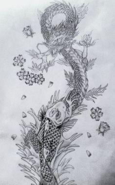 koi and dragon tattoo designs | koi and dragon fighting tattoo by ~drewcarcrazy on deviantART