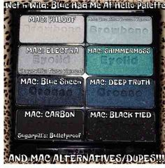 Wet N Wild dupes for MAC shadows. I love this palette.