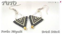 { TUTO } Boucles d'oreilles en perles miyuki | brick stitch | Perles and c