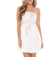 Cute white dress for a dressy summer event. 20.00