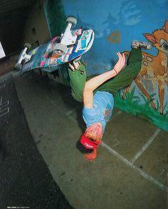 mike v will caveman a handrail