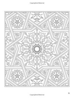 Arabic Floral Patterns Coloring Book (Dover Design Coloring Books): Nick Crossling: 9780486478470: Amazon.com: Books