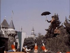 Mary Poppins! | 37 Vintage Disneyland GIFs You Never Knew You Needed