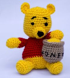 WINNIE THE POOH (free pattern): a perfect little present for a soon-to-be three year old!