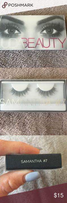 Huda beauty Samantha #7 lashes New never opened Huda beauty Samantha #7 false lashes Huda beauty Makeup False Eyelashes
