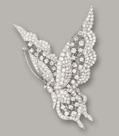 """DIAMOND 'BUTTERFLY"""" BROOCH by ginger"""