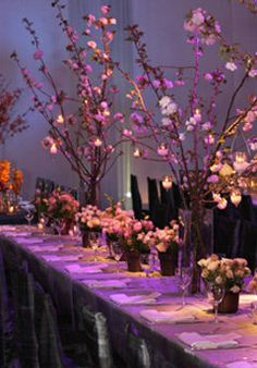 Wedding, Flowers, Reception, Purple