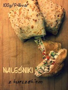 DIETETYCZNE NALEŚNIKI z kurczakiem♥♥♥ Pomysł na FIT obiadek ! ! !