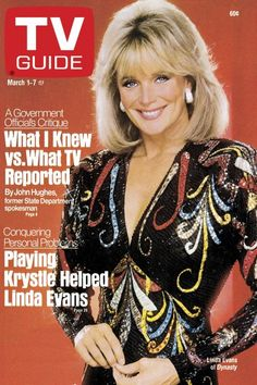 Linda Evans in DYNASTY - 1986 - TV GUIDE