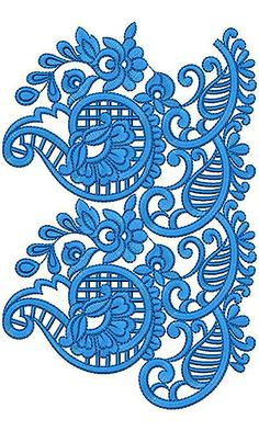 Cotton Crochet Embroidery Design