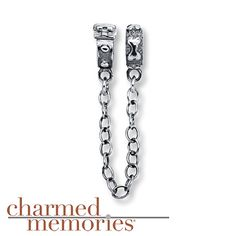 From the Charmed Memories® collection, two sterling silver stoppers, one decorated like a dog collar and the other with a bone, are joined together by a safety chain.