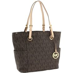 MICHAEL Michael Kors MK Logo East/West Signature Tote ($198) ❤ liked on Polyvore
