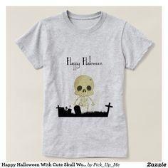 Happy Halloween With Cute Skull Women's T-Shirt