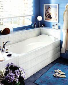 "Neptune Daphne Activ-Air Tub 59-3/4"" x 32-1/4"" x19-1/4""- DB60A #BlondyBathHome  #BathroomRemodel #BathtubIdeas #AlcoveBathtub"