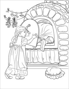 Hansel and Gretel ~ Janko a Marienka Coloring Pages For Kids, Coloring Books, Rainy Day Activities, Colorful Pictures, Hand Lettering, Fairy Tales, Sketches, Disney, Pretty