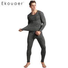 Buy Wallmart.win Ekouaer Winter Pyjamas Mens Long Sleeve Solid Slim  Sleepwear O-Neck b866bb610