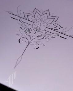 Simple Mandala Tattoo, Mandala Tattoo Design, Henna Tattoo Designs, Mandala Art, Tattoo Studio, Flower Tattoos, Small Tattoos, Aunt Tattoo, True Art