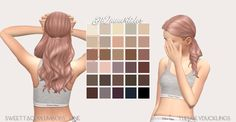 """SIMBLREEN GIFT 1 of 6: SweetTacoPlumbobs One one two three four five six """""""" • 30 colours: @simlishsweetie's di immortales palette • custom thumbnails • disabled for random and alien • mesh..."""