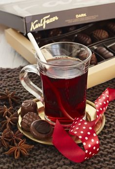 Mulled wine with Fazer chocolate (Finnish chocolate)