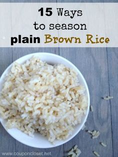 15 Ways to Season Brown Rice
