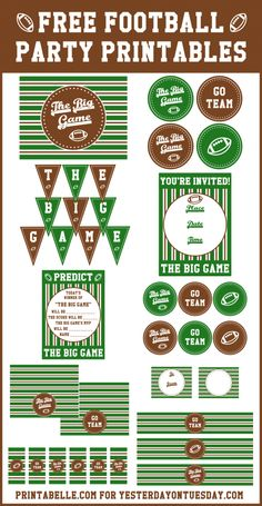 Football Party Printables for The Big Game via http://yesterdayontuesday.com #footballparty #seahawks #thebiggame