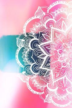 Tumblr Wallpaper, Galaxy Wallpaper, Wallpaper Backgrounds, Iphone Wallpaper, Mandala Drawing, Mandala Art, Paper Flower Patterns, Pretty Wallpapers, Cool Paintings