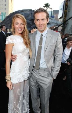 """<a href=""""http://www.wonderwall.com/tv/Blake-Lively-244.celebrity"""">Blake Lively</a> and <a href=""""http://www.wonderwall.com/movies/Ryan-Reynolds-390.celebrity"""">Ryan Reynolds</a> posed with their arms around each other at the premiere of their film <a href=""""http://www.moviefone.com/movie/green-lantern/36935/main"""">""""Green Lantern""""</a> in Hollywood, Calif., on June 15, 2011. This was the same summer Blake was <a…"""
