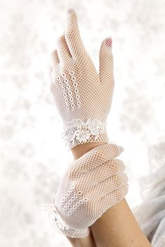 Ivory or White Lace Bridal Gloves  bridal by LittleWhiteDresser, $70.00