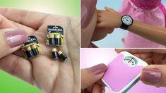3 COISAS INCRÍVEIS para Barbie e outras Bonecas - Pilhas, Relógio de Pul...