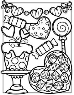 Surprising ideas clipart coloring pages free valentine made by creative clips tpt animal clip art cars christmas Unique Coloring Pages, Coloring Book Pages, Coloring Sheets, Valentines Day Activities, Valentine Day Crafts, Creative Clips, Valentines Day Coloring Page, Coloring Pages For Kids, Clip Art