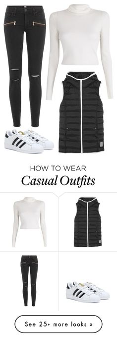 """adidas casual"" by karlee-alison on Polyvore featuring adidas, A.L.C., adidas Originals and Paige Denim"