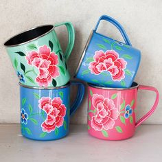 enamel floral mug by nkuku | notonthehighstreet.com