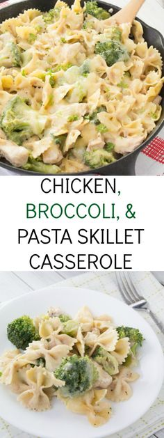 easy and healthier chicken, broccoli, and pasta skillet casserole recipe. Ready under 30 minutes!An easy and healthier chicken, broccoli, and pasta skillet casserole recipe. Ready under 30 minutes! New Recipes, Dinner Recipes, Healthy Recipes, Casseroles Healthy, Pork Recipes, Potato Recipes, Healthy Meals, Hamburger Recipes, Recipies