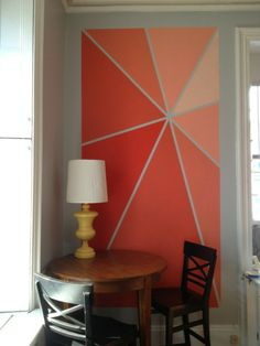 DIY wall art (inexpensive- just painter's tape and paint)