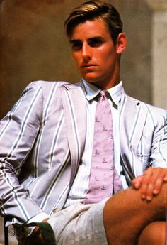 Well, this guy is definitely named Tripp. Photos: Ralph Lauren Ads in Vanity Fair Preppy Mens Fashion, Golf Fashion, 1980s Fashion For Men, Men's Fashion, Fashion Vintage, Fashion Clothes, Fashion Ideas, Fashion Design, Sisters Boyfriend