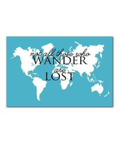 Look at this 'Wander' Print on #zulily today!