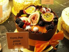 Yummy exotic fruit gateau from Patisserie Valerie
