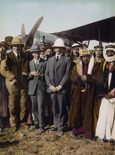 Herbert Samuel, 1st Viscount Samuel on the Aerodome at Amman.